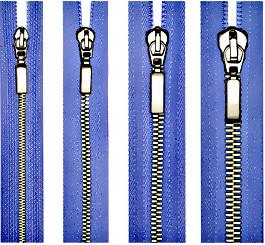 LMP - молнии высшего качества- Все виды, в том числе металлические шлифованные молнии на шёлковой тесьме.
